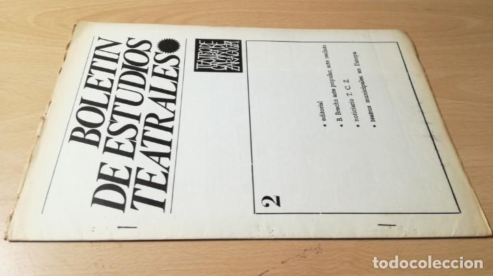 BOLETIN ESTUDIOS TEATRALES - 2 - 1967 - TEATRO CAMARA DE ZARAGOZA U-401 TEATRO (Libros de Segunda Mano - Bellas artes, ocio y coleccionismo - Otros)