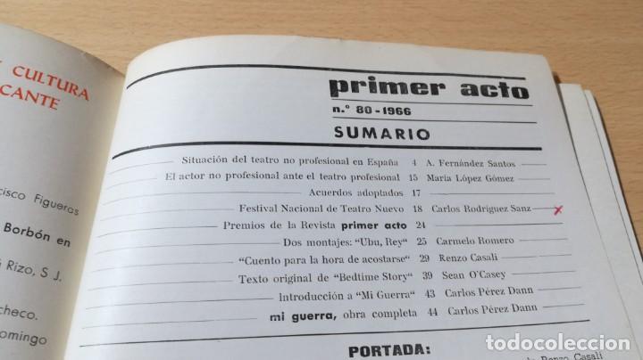 Libros de segunda mano: PRIMER ACTO - 80 - 1966 - MI GUERRA ARNICHES - CUENTO HORA ACOSTARSE O´CASEY U-401 TEATRO - Foto 4 - 209775267
