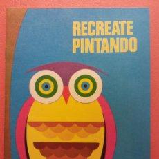 Livres d'occasion: RECREATE PINTANDO Nº2. CUADERNO PARA PINTAR. EDICIONES LAIDA. EDITORIAL FHER. Lote 209933945