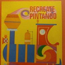 Livres d'occasion: RECREATE PINTANDO Nº3. CUADERNO PARA PINTAR. EDICIONES LAIDA. EDITORIAL FHER. Lote 209934181
