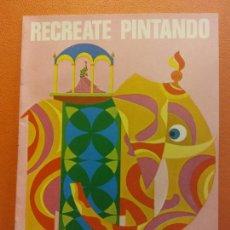 Livres d'occasion: RECREATE PINTANDO Nº3. CUADERNO PARA PINTAR. EDICIONES LAIDA. EDITORIAL FHER. Lote 209934470