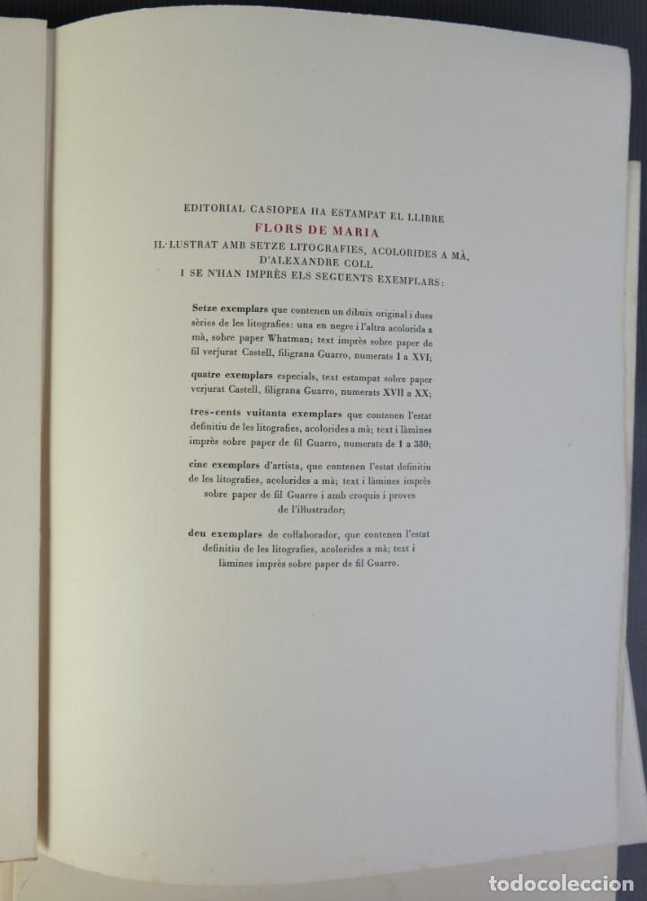 """Libros de segunda mano: Libro perteneciente a cuatro ejemplares especiales con texto estampado sobre papel """"verjurat Castell - Foto 6 - 209971290"""