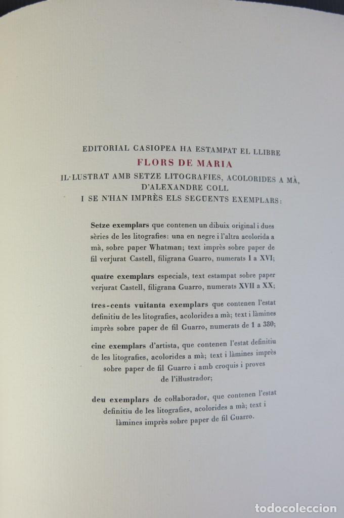 """Libros de segunda mano: Libro perteneciente a cuatro ejemplares especiales con texto estampado sobre papel """"verjurat Castell - Foto 7 - 209971290"""
