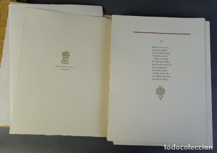 """Libros de segunda mano: Libro perteneciente a cuatro ejemplares especiales con texto estampado sobre papel """"verjurat Castell - Foto 8 - 209971290"""