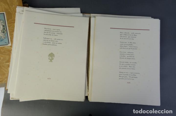 """Libros de segunda mano: Libro perteneciente a cuatro ejemplares especiales con texto estampado sobre papel """"verjurat Castell - Foto 10 - 209971290"""