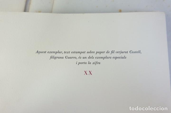 """Libros de segunda mano: Libro perteneciente a cuatro ejemplares especiales con texto estampado sobre papel """"verjurat Castell - Foto 11 - 209971290"""
