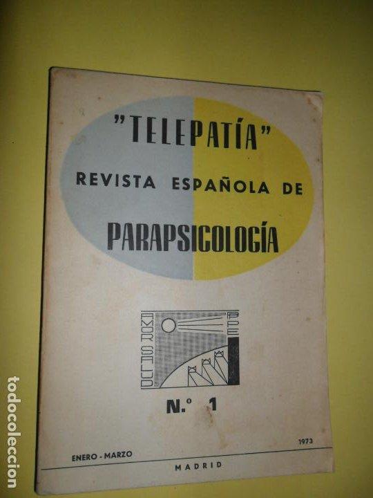 TELEPATÍA, REVISTA ESPAÑOLA DE PARAPSICOLOGÍA, Nº 1, ENERO-MARZO, 1973 (Libros de Segunda Mano - Parapsicología y Esoterismo - Otros)
