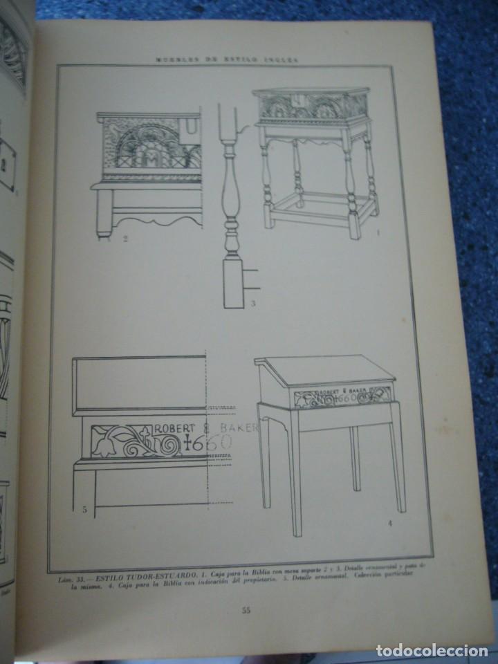 Libros de segunda mano: MUEBLES DE ESTILO INGLÉS - J. CLARET RUBIRA - Foto 4 - 210074221
