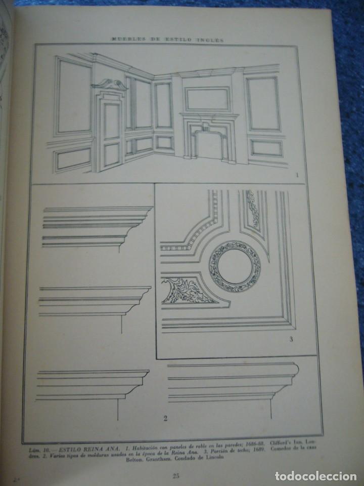Libros de segunda mano: MUEBLES DE ESTILO INGLÉS - J. CLARET RUBIRA - Foto 5 - 210074221