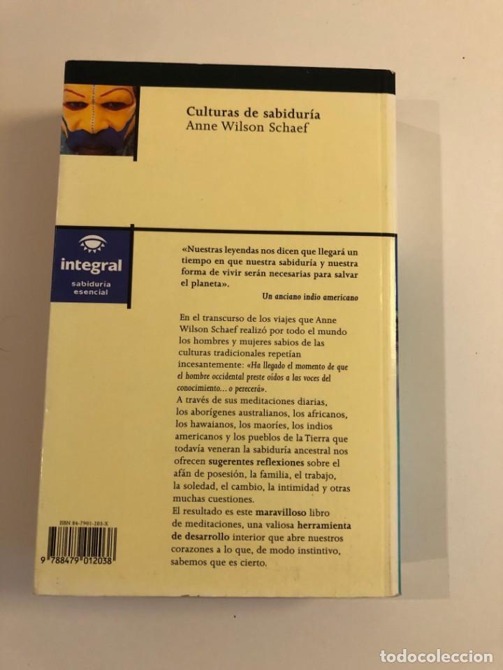 Libros de segunda mano: Culturas de sabiduría.A. Wilson Schaef. Integral. 365 reflexiones inspiradoras pueblos tradicionales - Foto 2 - 210149623
