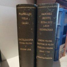 Libros de segunda mano: LIBROS POLICIOLOGÍA PRÁCTICA Y TÉCNICAS POLICIALES 1938-1943 DACTILOSCOPIA, PSICOLOGÍA CRIMINAL, ETC. Lote 210227476