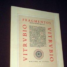 Libros de segunda mano: FRAGMENTOS. REVISTA DE ARTE, NÚMEROS 8 Y 9. DEDICADO A VITRUBIO. VARIOS AUTORES. VER SUMARIO.. Lote 210336403