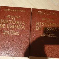 Libros de segunda mano: LIBRO MANUAL DE LA HISTORIA DE ESPAÑA TOMOS II - III PEDRO AGUADO ED. ESPASA-CALPE 1969. Lote 210349680