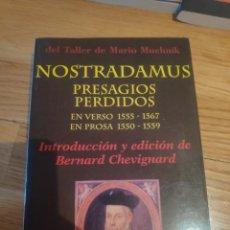 Libros de segunda mano: NOSTRADAMUS PRESAGIOS PERDIDOS BERNARD CHEVIGNARD. Lote 210414765