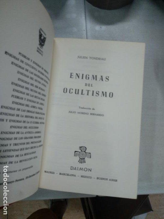 Libros de segunda mano: ENIGMAS DEL OCULTISMO -- JULIEN TONDRIALI COLECCIÓN GRANDES ENIGMAS - Foto 3 - 210420323
