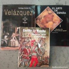 Libros de segunda mano: LOTE TRES LIBROS, ARTE E HISTORIA: VELÁZQUEZ, ALTAMIRA E HISTORIA DE CASTILLA LA MANCHA. Lote 210446333