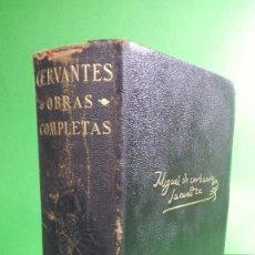 Libros de segunda mano: 1940 MIGUEL DE CERVANTES SAAVEDRA. OBRAS COMPLETAS. EDITORIAL AGUILAT. Lote 210450731