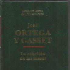 Libros de segunda mano: JOSE ORTEGA Y GASSET. LA REBELION DE LAS MASAS. ALTAYA. Lote 210599832