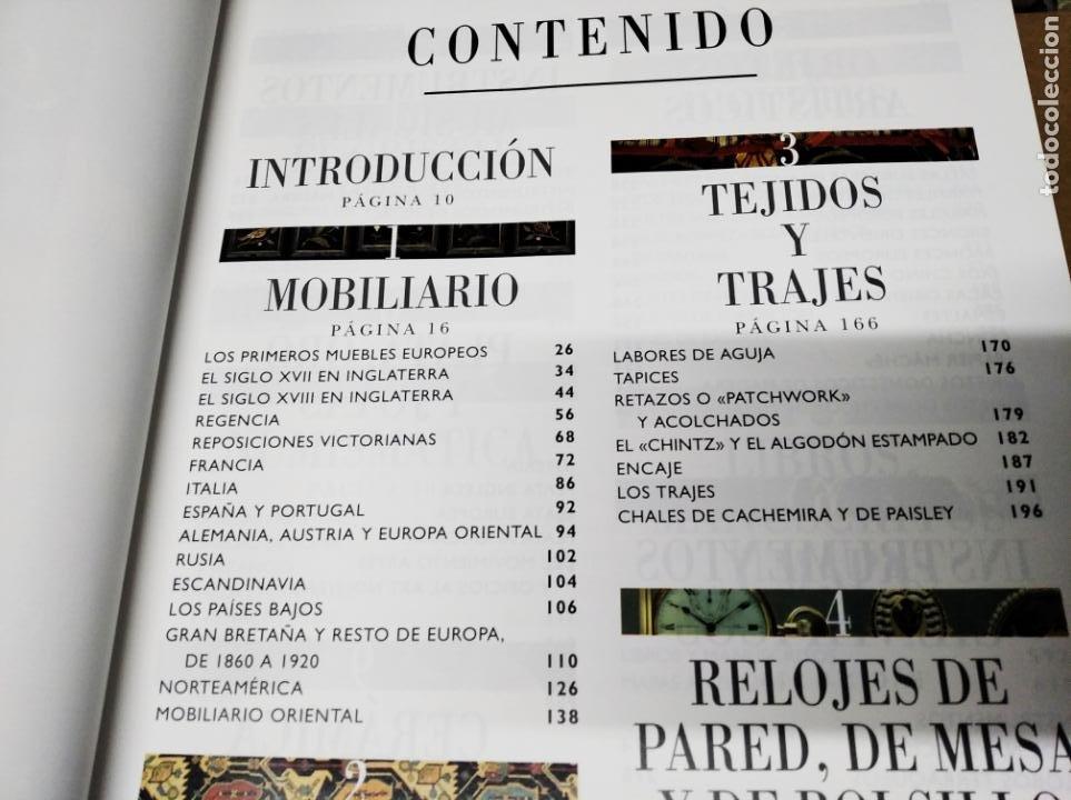 Libros de segunda mano: HISTORIA ILUSTRADA DE LAS ANTIGÜEDADES. HUON MALLALIEU . ED. LIBSA. 2000. RELOJES, JUGUETES, ARMAS - Foto 3 - 210702695