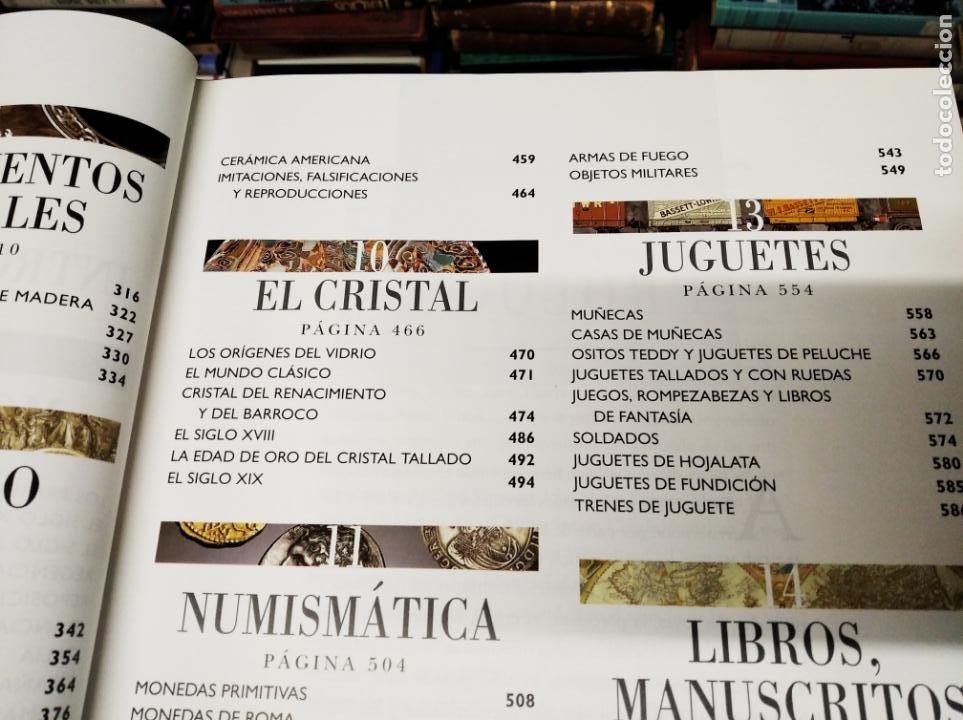 Libros de segunda mano: HISTORIA ILUSTRADA DE LAS ANTIGÜEDADES. HUON MALLALIEU . ED. LIBSA. 2000. RELOJES, JUGUETES, ARMAS - Foto 7 - 210702695