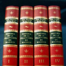 Libros de segunda mano: HISTORIA DE LA VILLA Y CORTE DE MADRID (4 VOLS.O.C.)-ED. FACSÍMIL DE LA DE 1864-AMADOR DE LOS RÍOS. Lote 210704240