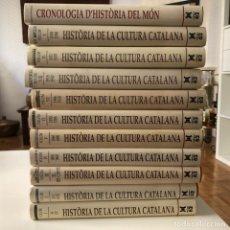 Libros de segunda mano: HISTORIA DE LA CULTURA CATALANA. 10 VOL + CRONOLOGIA D' HISTORIA DEL MON. ED 62. NOVA. Lote 210576795