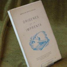 Libros de segunda mano: ORIGENES DE LA IMPRENTA,MARCELINO MARTÍN HIDALGO,ARTES GRÁFICAS JULIAN SAN MARTÍN,1969.. Lote 211339794