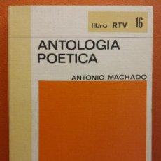 Libros de segunda mano: ANTOLOGIA POETICA. ANTONIO MACHADO. LIBRO RTV. EDITORIAL SALVAT. Lote 211400774
