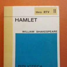 Libros de segunda mano: HAMLET. WILLIAM SHAKESPEARE. LIBRO RTV. EDITORIAL SALVAT. Lote 211400920