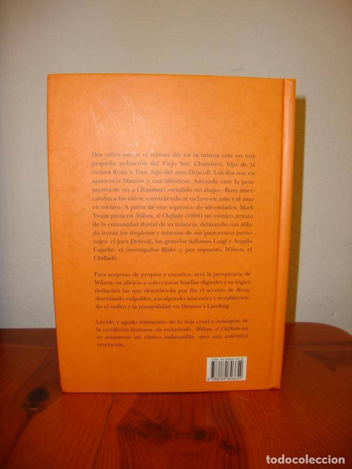Libros de segunda mano: WILSON, EL CHIFLADO - MARK TWAIN / JORDI SALES - ALBA - ILUSTRADO, MUY BUEN ESTADO - Foto 3 - 211436601