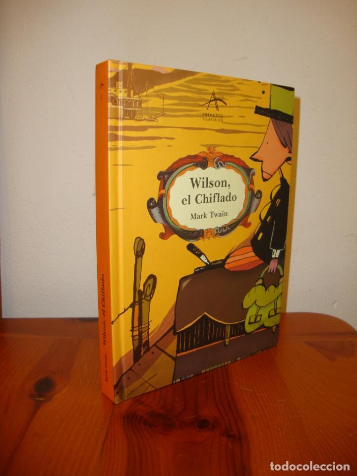 WILSON, EL CHIFLADO - MARK TWAIN / JORDI SALES - ALBA - ILUSTRADO, MUY BUEN ESTADO (Libros de Segunda Mano - Literatura Infantil y Juvenil - Otros)