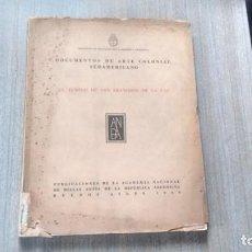 Libros de segunda mano: DOCUMENTOS DE ARTE COLONIAL SUDAMERICANO. Lote 211441289