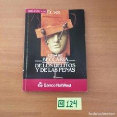 Libros de segunda mano: DE LOS DELITOS Y DE LAS PENAS. Lote 211452141