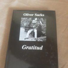 Libros de segunda mano: GRATITUD . OLIVER SACKS . COLECCION ARGUMENTOS . ANAGRAMA. Lote 211483937