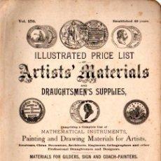 Libros de segunda mano: CATALOGUE OF ARTISTS MATERIALS WEBER PHILADELPHIA C. 1900 - 440 PÁGINAS MUY ILUSTRADAS. Lote 211594022