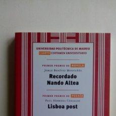 "Libros de segunda mano: ""RECORDANDO NANDO ALTEA"", JORGE BENÍTEZ MONTAÑÉS CALAMBUR. Lote 211620404"