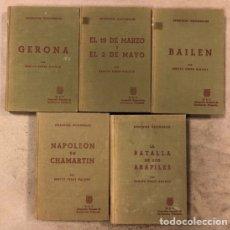 Libros de segunda mano: LOTE 5 TOMOS DE EPISODIOS NACIONALES. LIBRERÍA Y CASA EDITORIAL HERNANDO 1966.. Lote 175113388