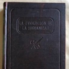 Libros de segunda mano: LA EVOLUCIÓN HUMANA N°1. E. PERRIER. LA TIERRA ANTES DE LA HISTORIA. EDITA UTEHA 1955.. Lote 132378518