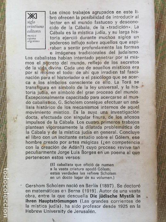 Libros de segunda mano: LA CABALA Y SU SIMBOLISMO - GERSHOM SCHOLEM - SIGLO XXI EDITORES - Foto 2 - 222112761