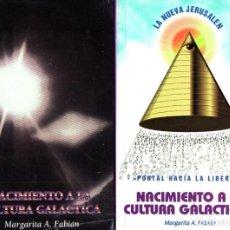 Libros de segunda mano: MARGARITA FABIAN . NACIMIENTO A LA CULTURA GALÁCTICA (PUERTO RICO, 1995-1999) FIRMADOS POR LA AUTORA. Lote 212117482