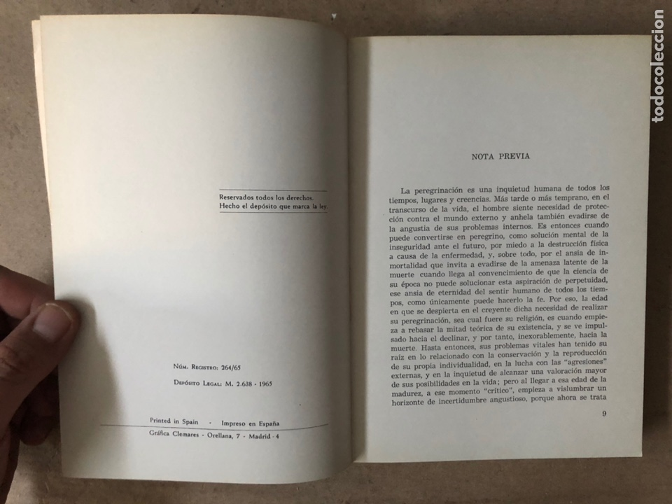 Libros de segunda mano: HISTORIA DE LAS PEREGRINACIONES (SUS ORÍGENES, RUTAS Y RELIGIONES). LUIS BONILLA. 1965. - Foto 3 - 212211843