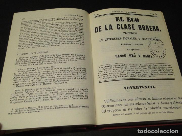 Libros de segunda mano: Barcelona a mitjan segle XIX.- (2 VOL. OBRA COMPLETA) .Josep Benet i Casimir Martí - Foto 11 - 212229190