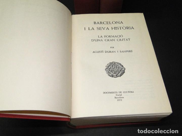 Libros de segunda mano: BARCELONA I LA SEVA HISTORIA . ( 3 Vol. OBRA COMPLETA).DURAN SANPERE, AGUSTI - Foto 3 - 212229473