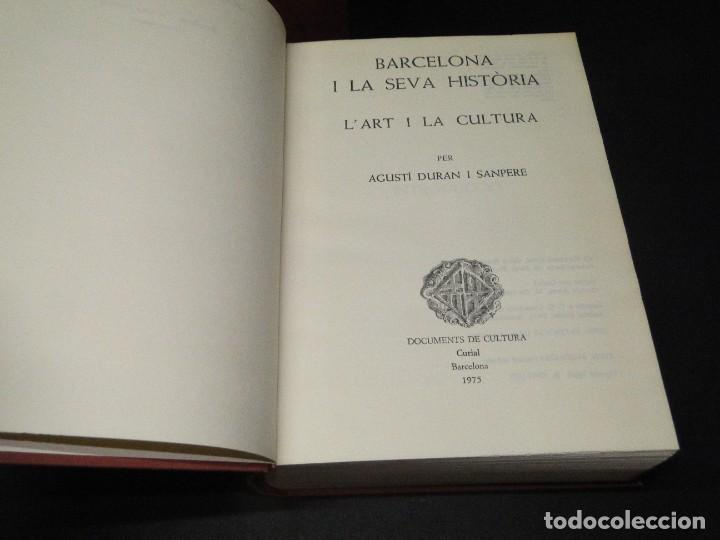 Libros de segunda mano: BARCELONA I LA SEVA HISTORIA . ( 3 Vol. OBRA COMPLETA).DURAN SANPERE, AGUSTI - Foto 22 - 212229473