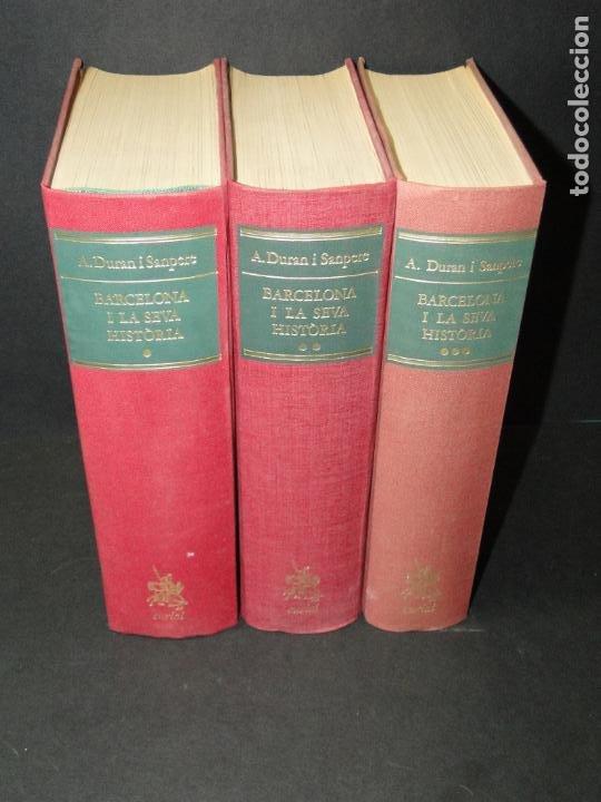 BARCELONA I LA SEVA HISTORIA . ( 3 VOL. OBRA COMPLETA).DURAN SANPERE, AGUSTI (Libros de Segunda Mano - Historia - Otros)