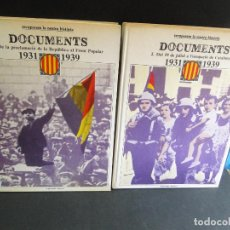 Libros de segunda mano: RECUPEREM LA NOSTRA HISTÒRIA. DOCUMENTS 1931-1939 (2 VOL. OBRA COMPLETA )). Lote 212339796