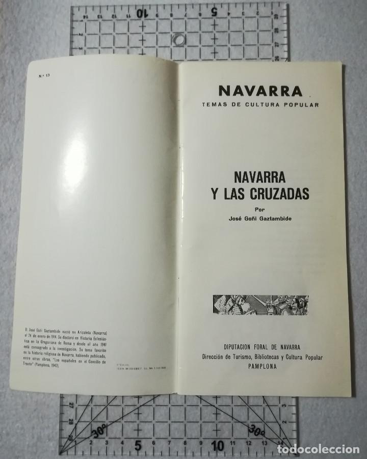 Libros de segunda mano: NAVARRA Y LAS CRUZADAS. TEMAS DE CULTURA POPULAR Nº 13. - Foto 3 - 212346781