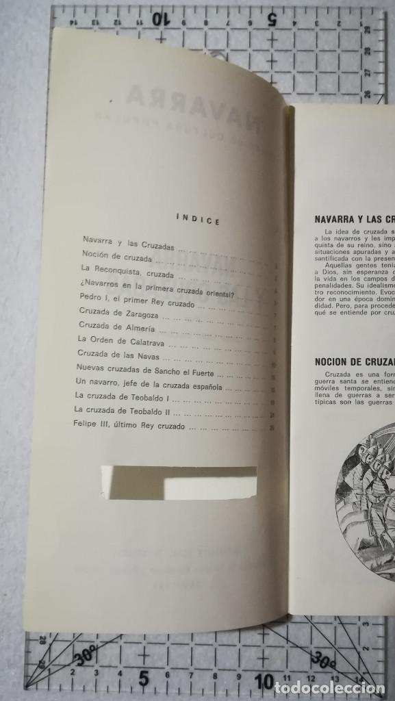 Libros de segunda mano: NAVARRA Y LAS CRUZADAS. TEMAS DE CULTURA POPULAR Nº 13. - Foto 4 - 212346781
