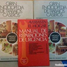 Libros de segunda mano: GRAN ENCICLOPEDIA DE TRABAJOS CASEROS VOL 1 Y 2 Y MANUAL. Lote 212384215