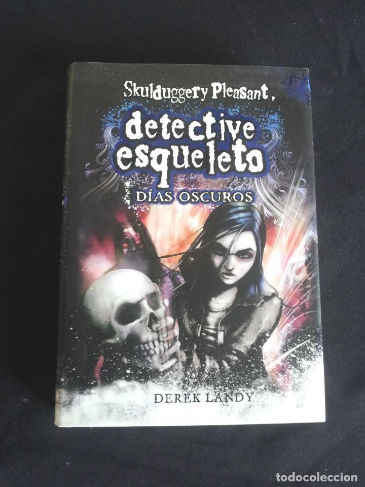 Libros de segunda mano: DEREK LANDY - SKULDUGGERY PLEASANT, DETECTIVE ESQUELETO (5 LIBROS) - EDICIONES SM 2007/11 - Foto 6 - 212482520